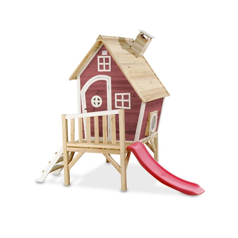 spielhaus f r den garten mit balkon und rutsche. Black Bedroom Furniture Sets. Home Design Ideas