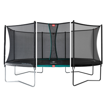 BERG Trampolin Grand Favorit oval 520 x 345 cm mit Netz...