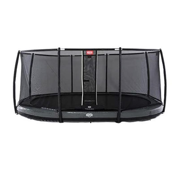 BERG Trampolin Grand Elite oval 345 x 520 cm grau...