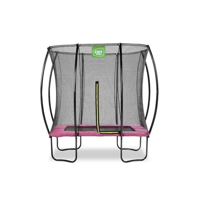 Rechteck Trampolin Salta 153 x 214 Rosa mit Sicherheitsnetz TOP Qualität