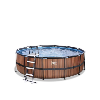 EXIT Swimming Pool Ø 450 x 122 cm Holzoptik